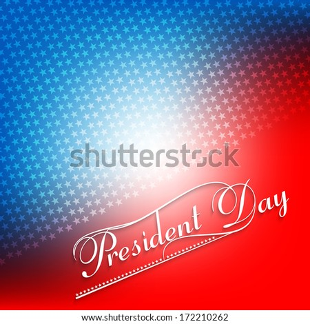 American Presidents Day colorful Background vector