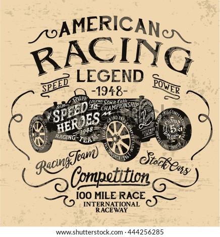 american racing legend  vintage ...