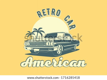 american retro car on a