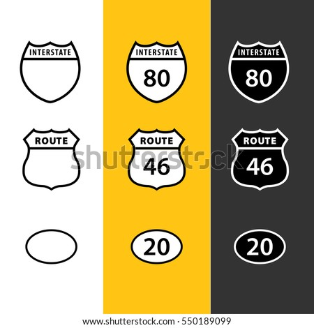 American Route, Road, and Highway Icons
