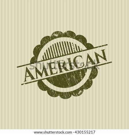 American rubber grunge seal