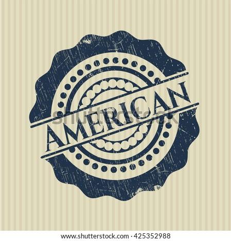 American rubber grunge stamp