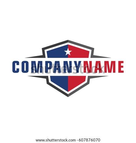 American shield logo template