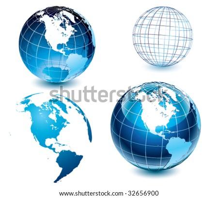American side of the world-globe