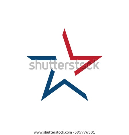 American star logo design