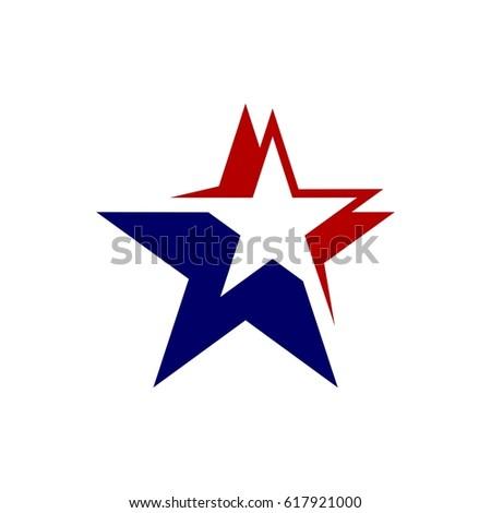 american star logo template