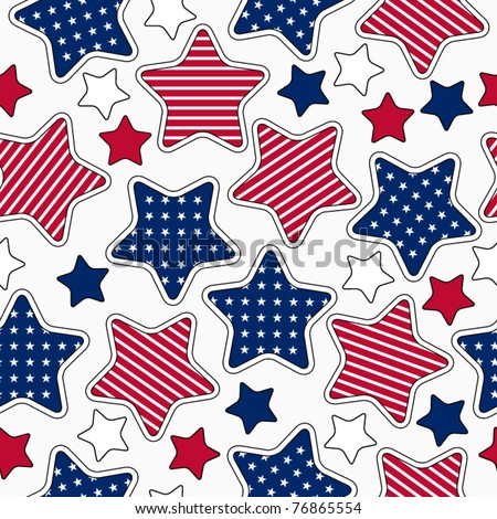 American stars and stripes seamless pattern