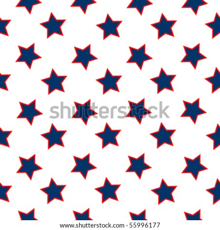 american stars flag pattern, abstract seamless texture; vector art illustration