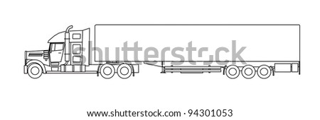 American style truck vector