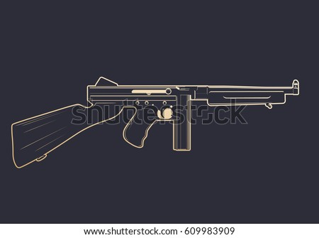 american submachine gun with