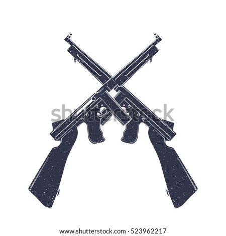 american submachine guns over
