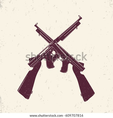 american submachine guns  two