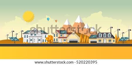 american suburban houses eco