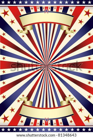 American US tricolor frame. A background for your advertising.