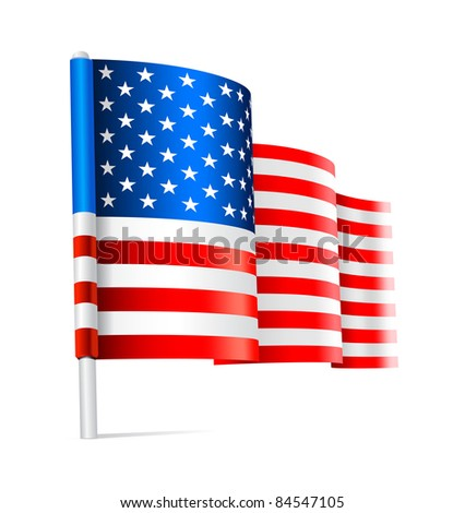 American USA flag waving