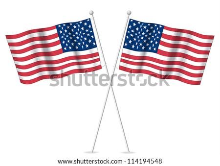 American USA flags.