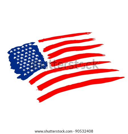 american vector flag independence day drawing watercolor