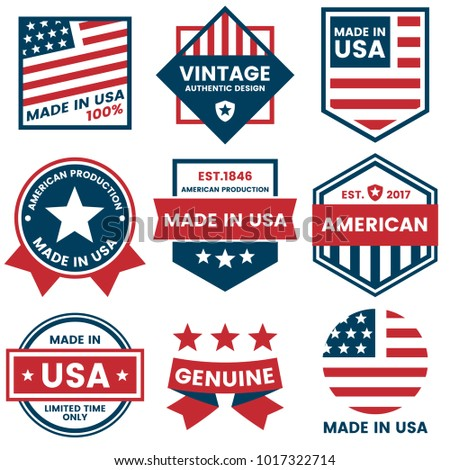american vector label for...