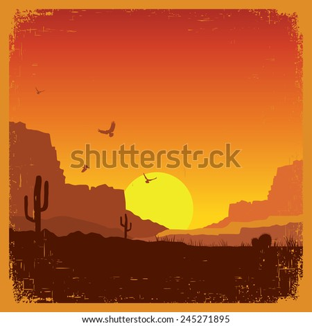 american wild west desert on