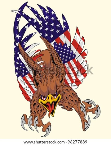 American wing flag eagle