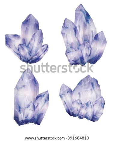 amethyst crystal cluster in a
