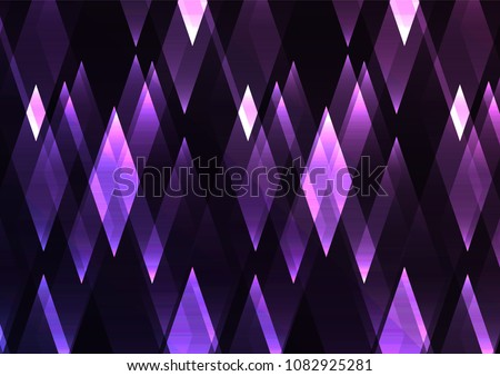 amethyst crystal shine abstract background, diamond business template, facet technology background, vector illustration
