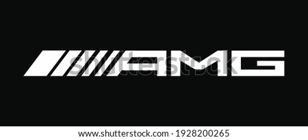amg font style modern vector