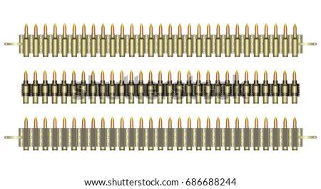 ammo belt machine gun belts on