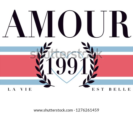 Amour graphic print