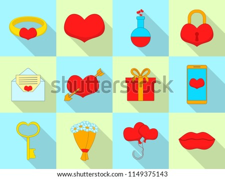 Amour icons set. Flat set of 12 amour vector icons for web isolated on white background