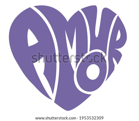 Amour typography cool color vector t-shirt design. hand write typography Foto stock ©