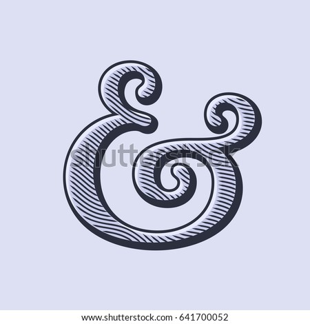ampersand symbol with natural...