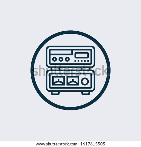 Amplifier icon isolated on white background. Amplifier icon simple sign. Amplifier icon trendy and modern symbol for graphic and web design. Amplifier icon flat vector illustration for logo, web, app