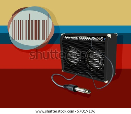 amplifier on bright background