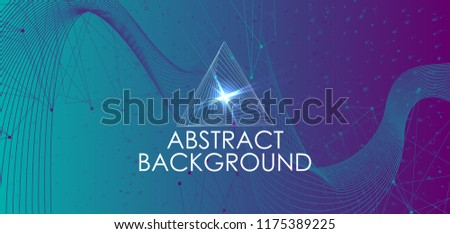 Amplitude Abstract Background with a colored dynamic waves. Abstract soundtrack wave, energy background or digital music beat tracking technology, color visualization vector illustration