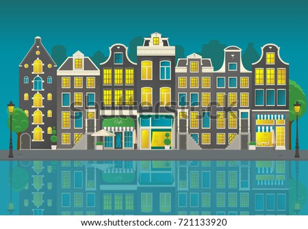 amsterdam city street with