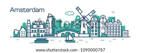 amsterdam city vector