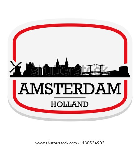 amsterdam holland label stamp