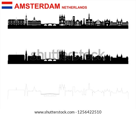 Amsterdam, Netherlands Silhouette