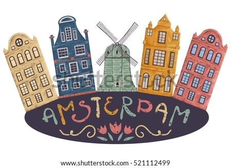 amsterdam. old historic...