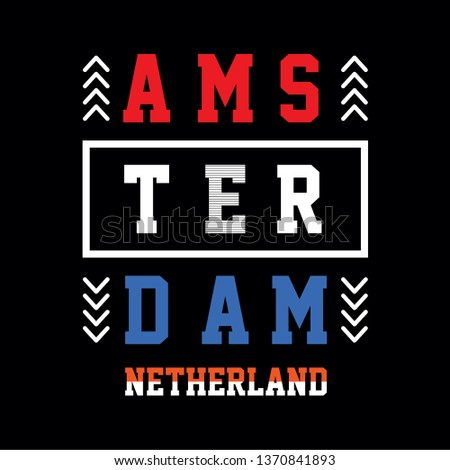 0cd250889 amsterdam typography t shirt graphic design, vector illustration artistic  concept, urban culture for young