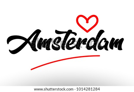 amsterdam word text of european
