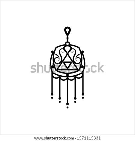 Amulet Icon, Good Luck Charm Icon Vector Art Illustration Сток-фото ©