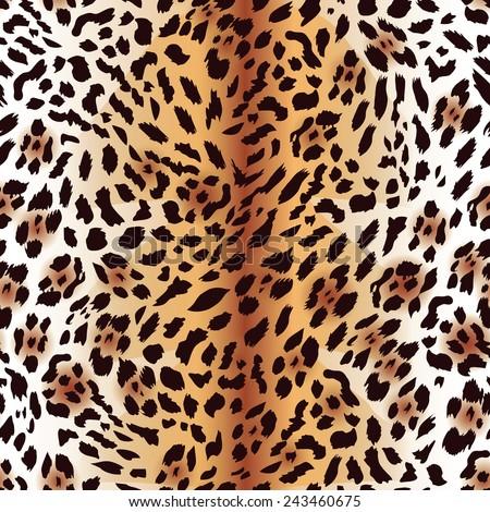 amur leopard fur seamless