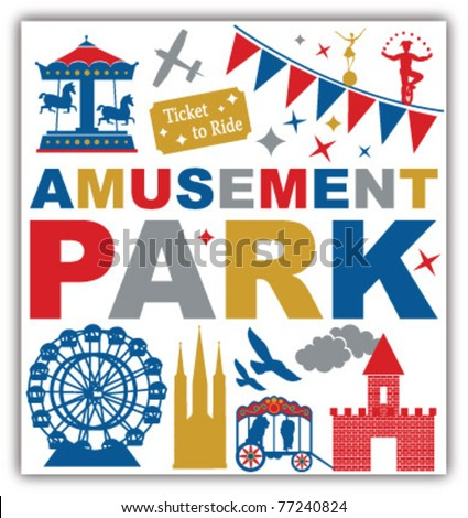 amusement park - stock vector