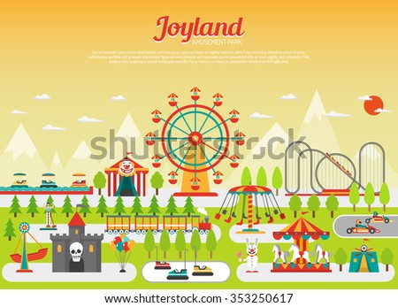 amusement park concept with