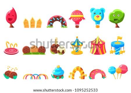 amusement park elements made of