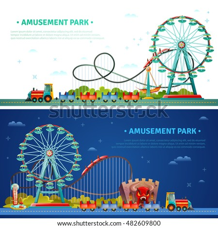 amusement park horizontal flat