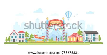 amusement park   modern flat