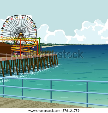 amusement park on the pier in